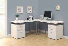White L Shaped Desks Monarch Specialties I 7027 3 Computer Desk White L Shaped Corner Desk