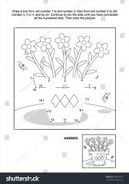 connect dots picture puzzle coloring page stock vector 180352910