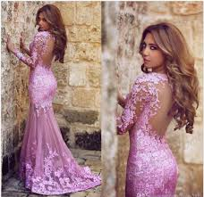 wedding evening dresses lace prom dress pink prom dress sleeves prom dress party prom