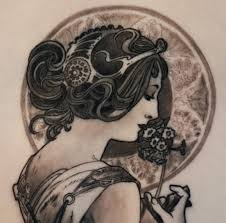 alphonse mucha tattoo by electra linda ink i like pinterest
