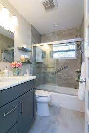 grey bathroom vanity bathroom transitional with bathroom bench
