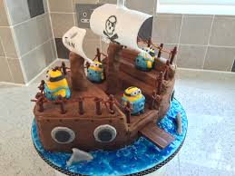 minion pirate ship cake b day minions pinterest pirate