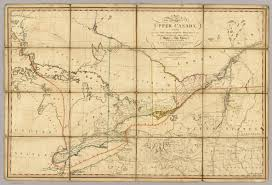 Map Of Ontario Upper Canada Colony Upper Canada 1793 Map Canada A Country By