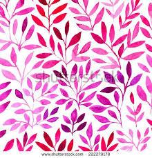 vector watercolor retro pattern with purple leaf organic ornament