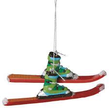 downhill skiing tree ornament ski winter sport novelty