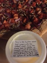 pretzel delivery impressed with pizza hut employee ordered pretzel crust with no