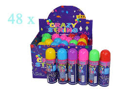 silly string bulk lot 48 party silly string 6 colours assorted wholesale
