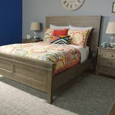 Queen Bed Gray Wood Layne Queen Bed World Market