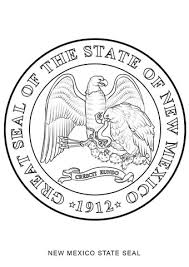 new mexico state seal coloring page free printable coloring pages