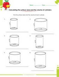 solid figures volume and surface area worksheets pdf