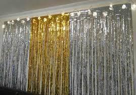 Silver Foil Curtains Fringe Curtain Decoration 100 Images Set Of 2 Purple Foil