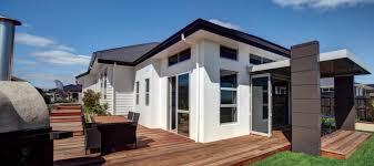 natural elegant design contrete block homes that has brown wall