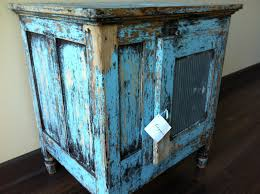 antique french blue ice chest sold