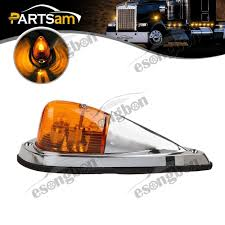truck bumpers including freightliner volvo peterbilt kenworth truck semi trailer amber cab marker roof top clearance light