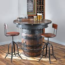 modern bar table sets wine barrel bar table sets home furniture blog wine barrel bar