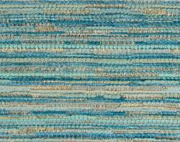 Blue And White Striped Upholstery Fabric 1 Yard Sweater Knit Blue Tan White Jacquard Bead Striped Wide
