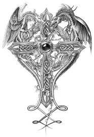 tattoo cross dragon tattoos of celtic cross and dragon google search tattoo ideas