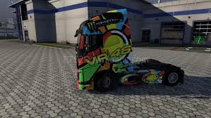 valentino 46 sun and moon skin for volvo ets2 mods