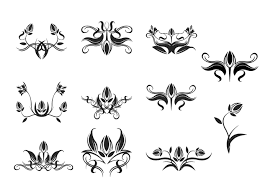 floral ornament brush pack free photoshop brushes at brusheezy