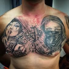gangster chest tattoo best tattoo ideas gallery