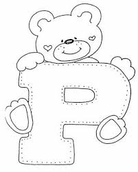 colouring p bear p free alphabet coloring pages colouring p
