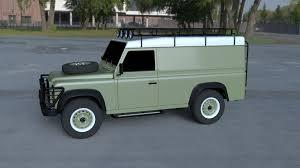 green land rover defender land rover defender 110 hard top wo interior hdri by dragosburian