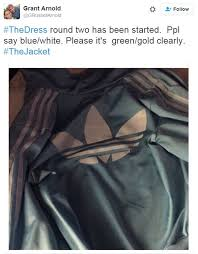 after the dress left the internet baffled this adidas jacket