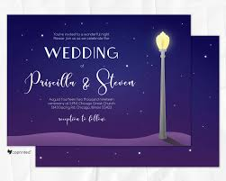 la la land movie theme wedding invitation chicago wedding
