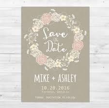 save the date cards rustic save the date postcard save the