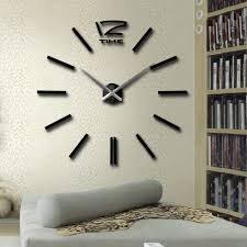 beautiful diy modern wall clock 72 large silver modern diy home