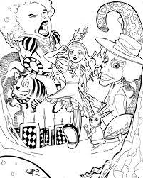 alice wonderland poster coloring download u0026 print
