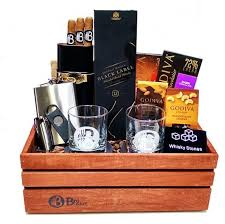 cigar gift baskets the executive corporate gift basket scotch and cigars gift