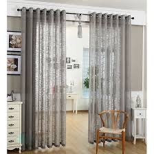 Cotton Gauze Curtains Modern Linen And Cotton Bedroom Short Sheer Curtains Buy Grey