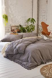 magical thinking pom fringe duvet cover urban outfitters