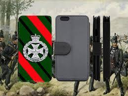 Military Flag Case Royal Green Jackets Regimental Rgj Leather Flip Phone Case Wallet