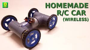 how to make wireless remote controlled car at home youtube