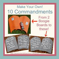 make your own 10 commandments tablets bible moses pinterest