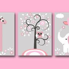 Pink Elephant Nursery Decor Elephant Nursery Set Products On Wanelo