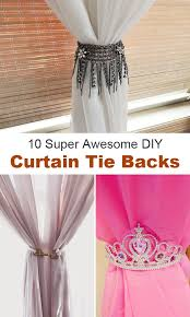 Tie Backs Curtains 10 Awesome Diy Curtain Tie Backs