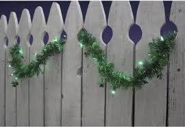 Halloween Tinsel Garland by 15 U0027 Patriotic Red White And Blue Tinsel Christmas Garland With