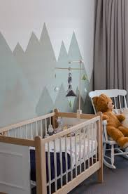 Room Boy Baby Boy Mountain Theme Vintage Crib Wood Mountain Nursery Babyboy