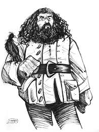 daily sketch hagrid harry potter brian shearer