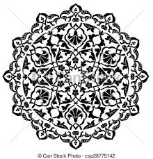 Pattern Ottoman Black Artistic Ottoman Pattern Seri Series Of Patterns Eps