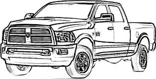 coloring pages trucks funycoloring