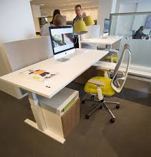 Teknion Reception Desk Teknion Upstage Workstation With Livello Height Adjustable Desk