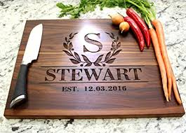 personalized cutting board wedding cutting boards bay laurel garland personalized cutting board