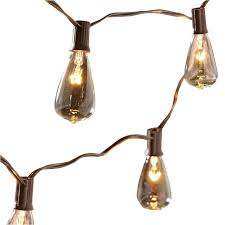 allen and roth lighting shop allen roth 14 ft brown outdoor string lights at lowes com
