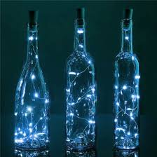 bulk pack 3 20 cool white led cork wine bottle l string