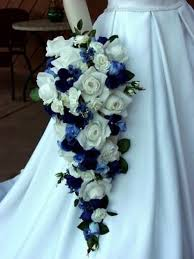 blue wedding bouquets the wedding gallery blue and white wedding bouquet