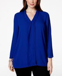 alfani blouses alfani plus size sleeve chiffon blouse only at macy s plus